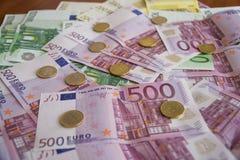 Некоторые банкноты евро Стоковое Изображение RF