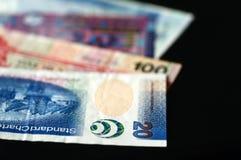 Некоторые банкноты долларов Гонконга на темной предпосылке Стоковое Изображение RF