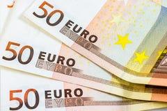 Некоторые 50 банкнот евро Стоковое Изображение RF