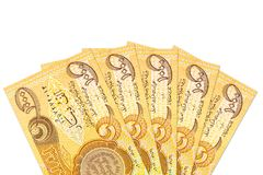 Некоторые 1000 бумажных денег иракского динара obverse стоковые фото