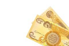Некоторые 1000 бумажных денег иракского динара obverse стоковые фотографии rf
