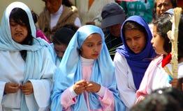Некоторые женщины в религиозном представлении Стоковые Изображения