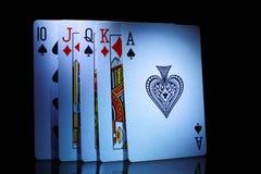 Некоторые из играя карточек, от 10 к тузу Стоковые Фотографии RF