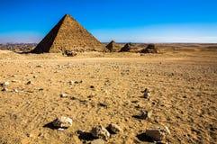 Некоторые из пирамид Гизы Стоковое фото RF