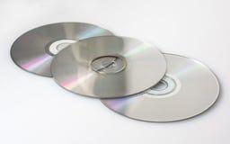 Некоторые компактные диски стоковое изображение rf