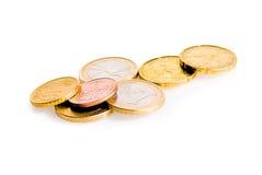 Некоторые монетки евро Стоковые Фотографии RF