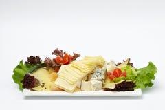 Некоторые овощи и части сыра Стоковое Изображение