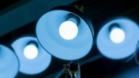 Некоторые привели предпосылку науки и техники ламп голубую светлую Стоковое Изображение