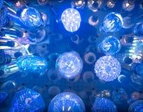 Некоторые привели предпосылку науки и техники ламп голубую светлую Стоковые Фотографии RF