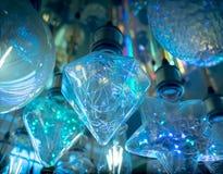 Некоторые привели предпосылку науки и техники ламп голубую светлую Стоковые Изображения