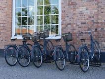 Некоторые ретро велосипеды стоковое фото rf