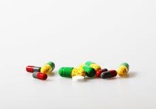 некоторые таблетки стоковое фото