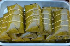 Некоторые тайские sweetmeat, Khao Том сумашедшее или пусковая площадка Khao Тома Стоковое Изображение RF