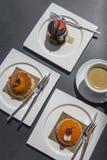 Некоторые торт и десерт Стоковое фото RF