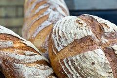Некоторый очень вкусный дисплей домодельного хлеба Стоковое Изображение