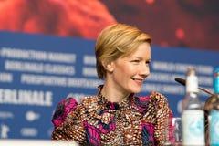Немецкая актриса Сандра Hueller во время Berlinale 2018 Стоковая Фотография