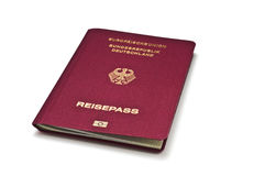 немецкая белизна пасспорта Стоковая Фотография RF