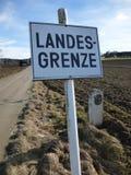 Немецкая граница Стоковые Фотографии RF