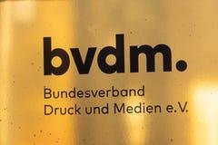 Немецкая организация печатания и средств массовой информации стоковые фото