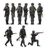 Немецкая пехота солдата Стоковая Фотография