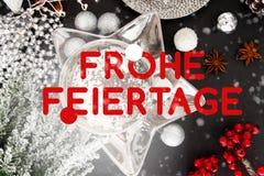 Немецкая рождественская открытка, feiertage frohe, Германия иллюстрация вектора