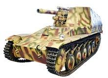 Немецкая самоходная артиллерия Sd Kfz 124 isolat Wespe leFH18 Стоковые Изображения