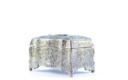 Немецкая серебряная коробка драгоценности Стоковая Фотография