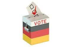 Немецкая урна для избирательных бюллетеней избрания для собирать голосования Стоковое фото RF