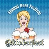 Немецкая эмблема фестиваля пива Стоковое Изображение