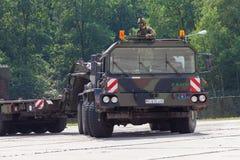 Немецкие блок трактора SLT 50 Elefant сверхмощные и транспортер танка Стоковое фото RF