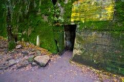 Немецкие бункеры Wilczy Szaniec, Польши стоковое фото rf