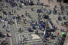 Немецкие вентиляторы футбола Стоковое Фото