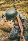 Немецкие воинские боеприпасы Второй Мировой Войны дальше Стоковая Фотография RF
