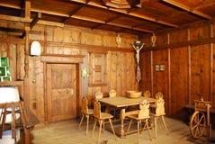 немецкие нутряные средневековые комнаты Стоковые Изображения