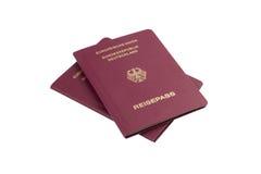 Немецкие пасспорты Стоковые Изображения RF