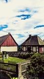 Немецкие средневековые дома Стоковая Фотография RF