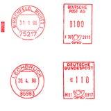немецкие штемпеля почтоваи оплата Стоковое Изображение RF
