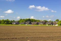 Немецкий ландшафт сельской местности, более низкая зона Рейна стоковое изображение