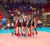 немецкий волейбол команды Стоковая Фотография