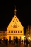 немецкий городок nightshot Стоковые Фото