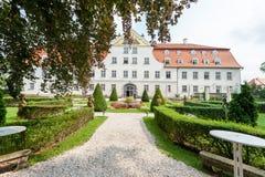 Немецкий замок Schloss Lautrach звероловства стоковое фото rf