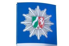 Немецкий знак polizei nrw стоковые изображения