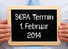 Немецкий знак SEPA Стоковое Изображение RF