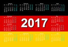 Немецкий календарь Стоковая Фотография RF
