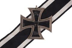 Немецкий крест утюга медали WW1 Стоковое фото RF