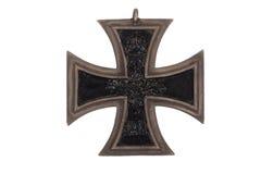 Немецкий крест утюга медали WW1 Стоковые Фото