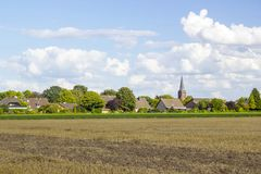 Немецкий ландшафт сельской местности стоковое фото rf