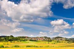 немецкий маленький город Стоковые Изображения