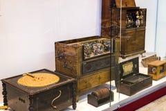 Немецкий музей достижения науки и техники представляет музыкальный инструмент выдержки делая историю стоковое фото rf