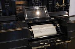 Немецкий музей достижения науки и техники представляет музыкальный инструмент выдержки делая историю стоковое изображение rf